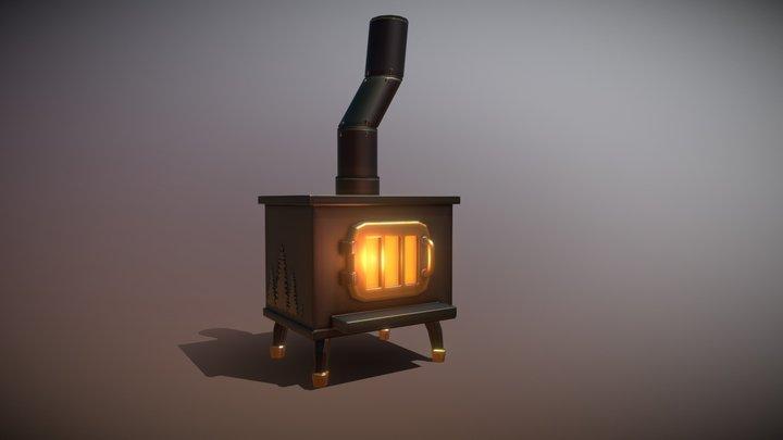3December Day 2 - Wooden Stove 3D Model