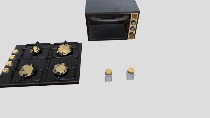 fanncy old kitchen props 3D Model