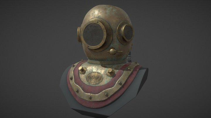 Skaphander - Diving helmet 3D Model