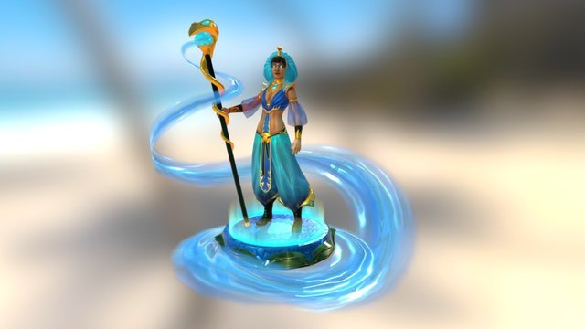 Water mage 3D Model