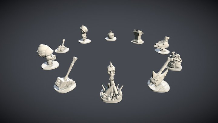 Quest Tokens for Arcadia Quest 3D Model