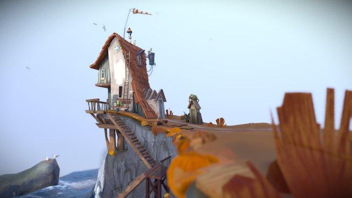 house at sea 3D Model