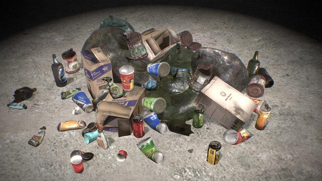 Trash Pile 3D Model