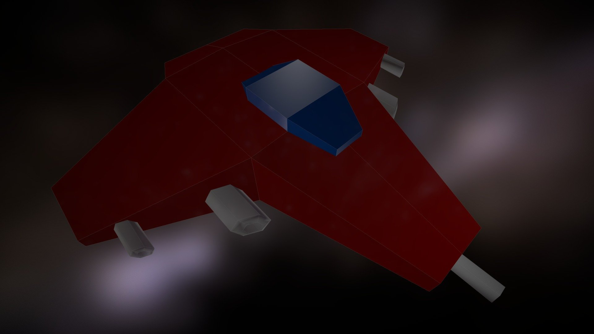 [FREE] Extremely low poly Spaceship