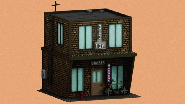 Barbershop 3D Model