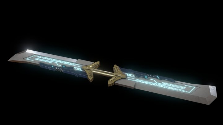 Thanos Infinity sword (With Emission) 3D Model
