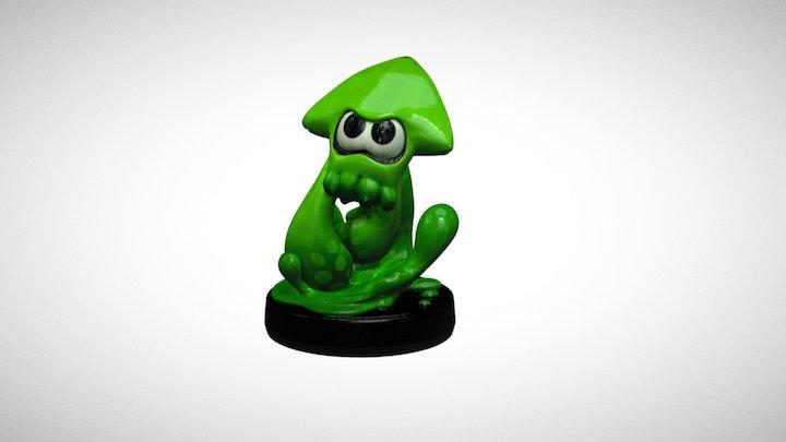 Splatoon Inkling Squid 3D Model