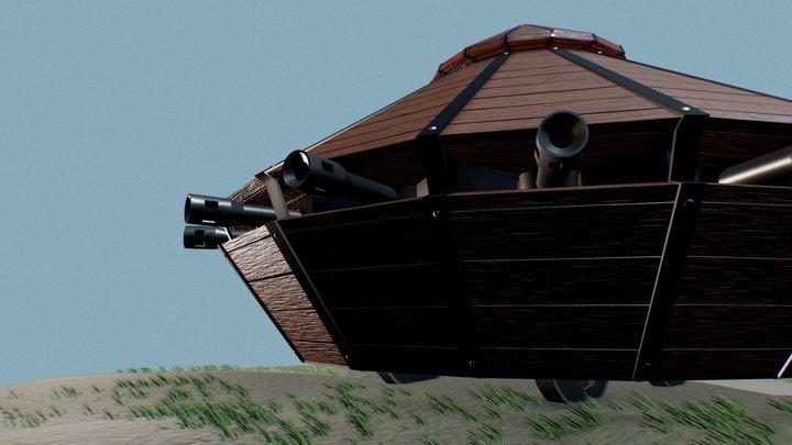 Da Vinci's machine - Tank 3D Model