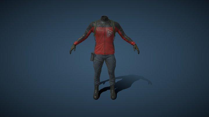 Clothes Character 3D Model