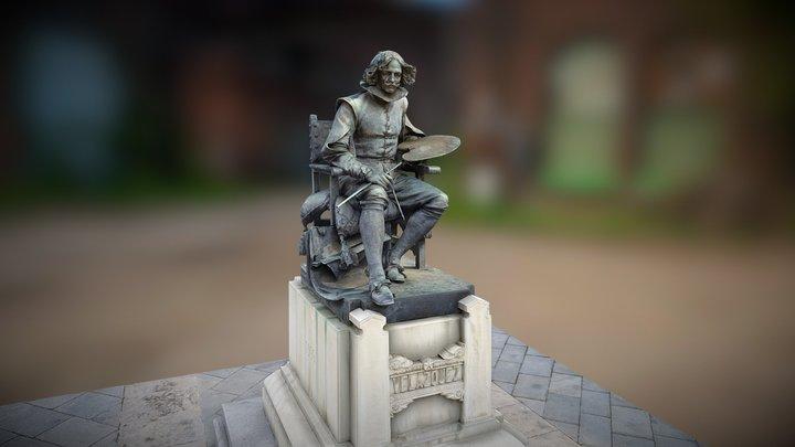 Statue of Velazquez, Madrid Spain 3D Model