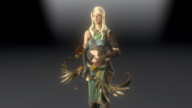 Elven Archer 3D Model
