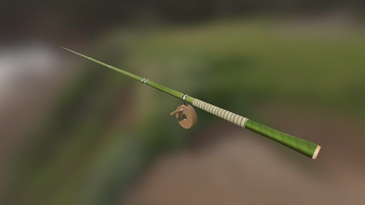 Bamboo Fishing Rod 3D Model