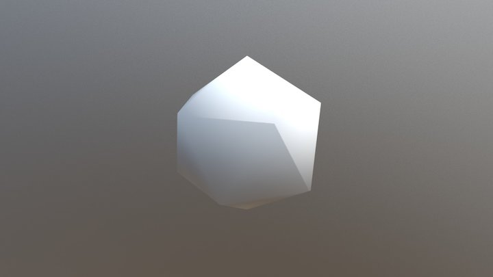 Icosahedron 3D Model