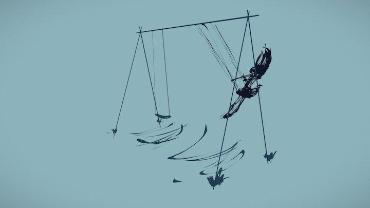 Swinging Ella - pencil test 3D Model