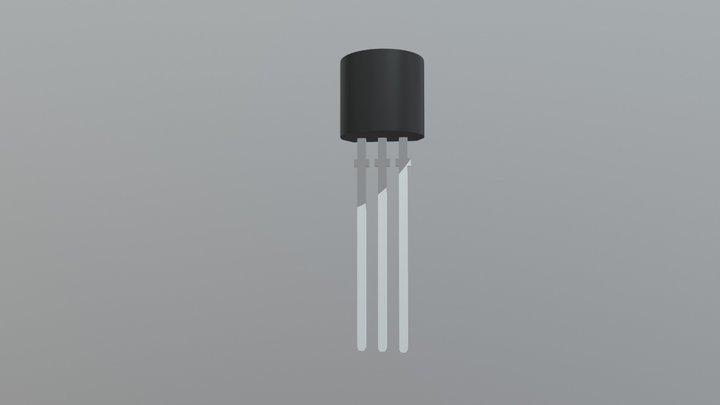 Transistor TO 092 3D Model