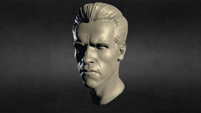 The head of the sculpture use Zbrush 3D Model
