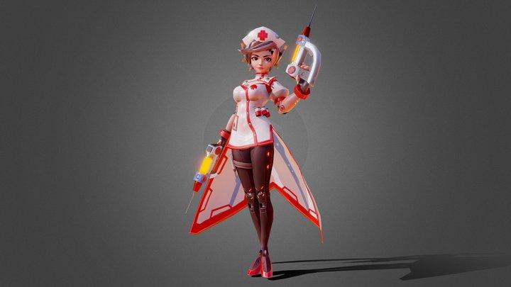 Stylized Nurse character 3D Model