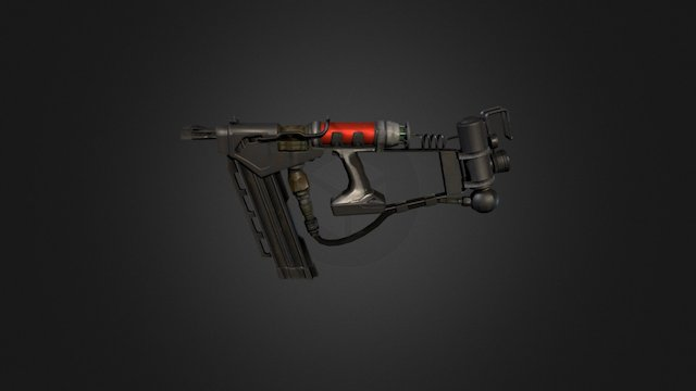 Nail Shotgun 3D Model