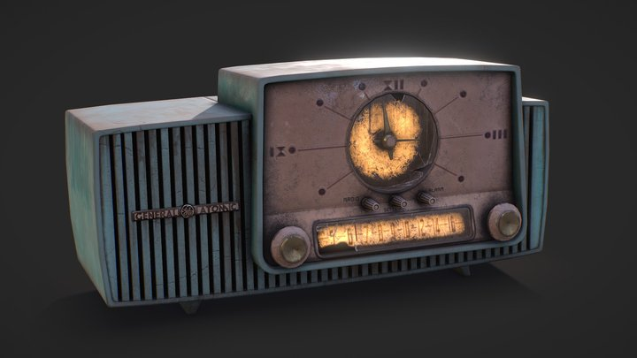 Post Apocalyptic Fallout Radio 3D Model