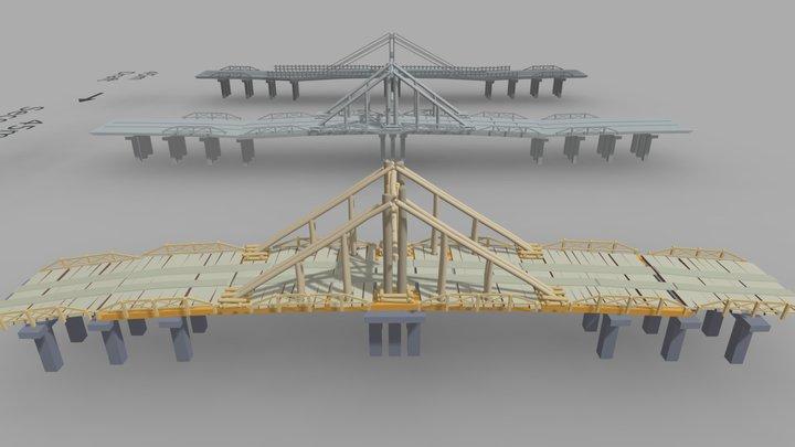 Draft And Details Bridge 3D Model