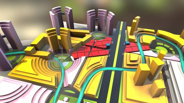 City Mesh 383 3D Model