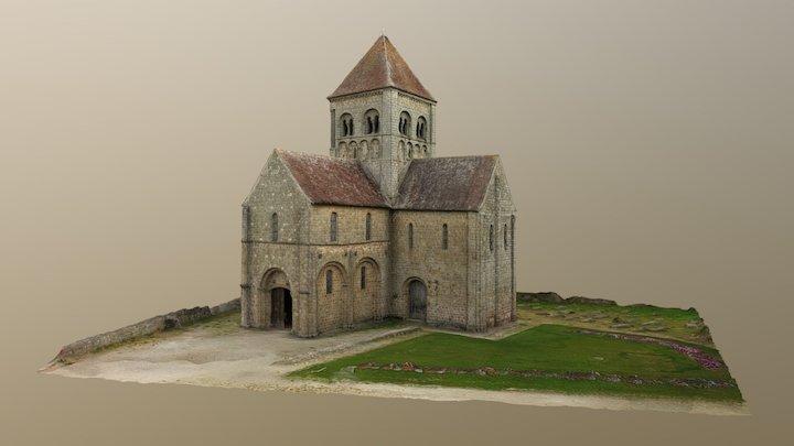 Notre-Dame sur l'eau, Domfront (Orne) 3D Model