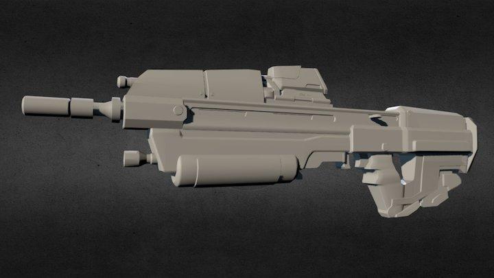 Assault Rifle (Halo: Reach) 3D Model