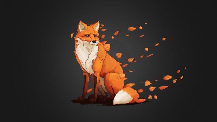Autumn Fox 3D Model