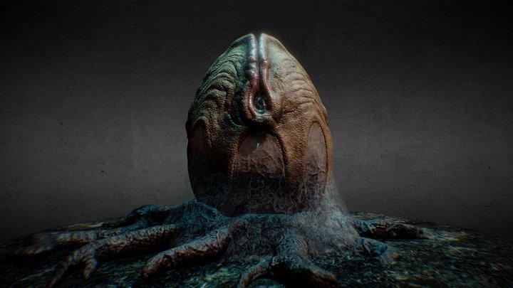 Alien egg 3D Model