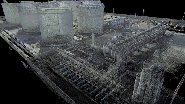 3D Oil Terminal 3D Model