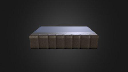 Book Lowpoly 3D Model