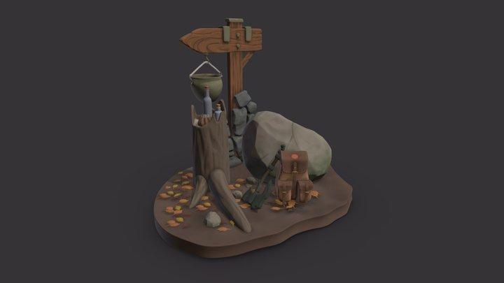 DS - Adventurer's camp 3D Model