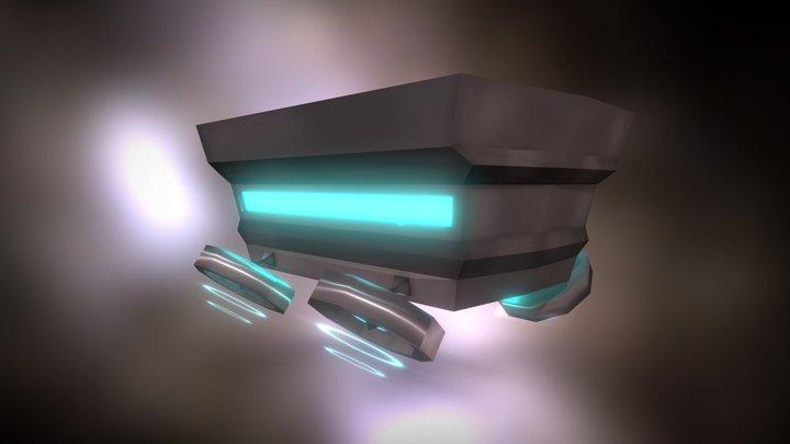 Flying Minecart 3D Model