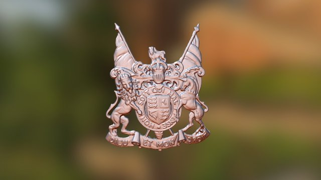 King George V, Coat Of Arms, Brisbane Australia 3D Model