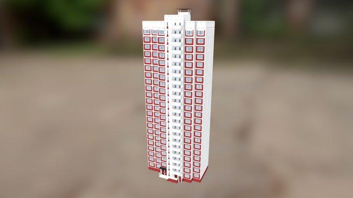 Типовой дом КОПЭ, линейный блок 3D Model