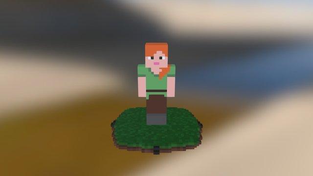 Qubicle Minecraft Alex 3D Model