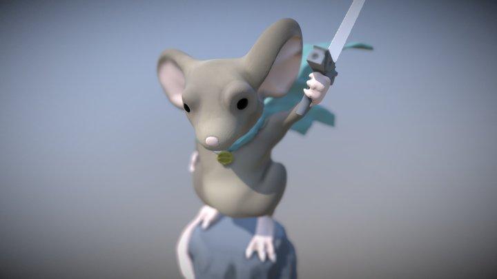 Mouse Warrior 3D Model