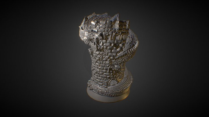 Dragon Rook for 3D Printing 3D Model