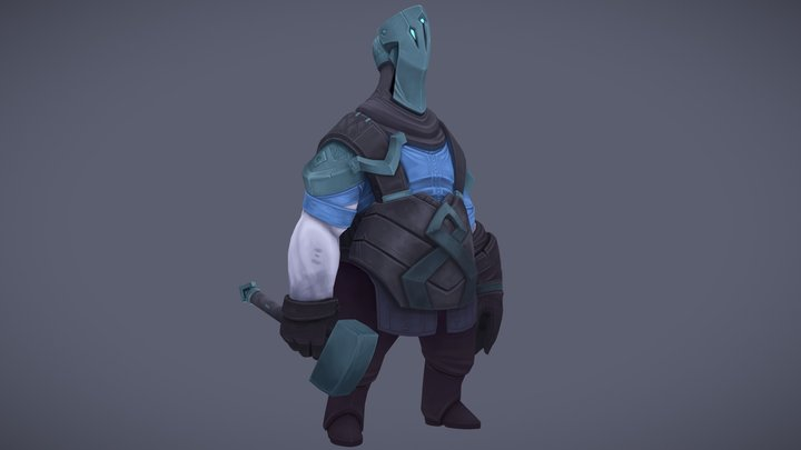 Pale Forge Worker 3D Model