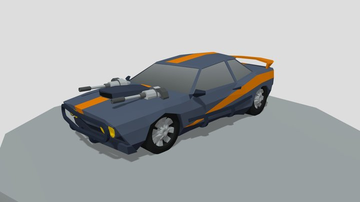 Battle muscle Car 3D Model