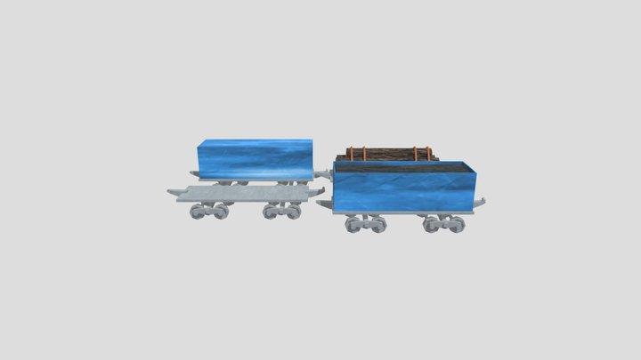 Vagões De Trem 3D Model