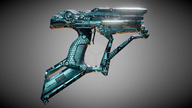 Laser Gun (Drone On) 3D Model