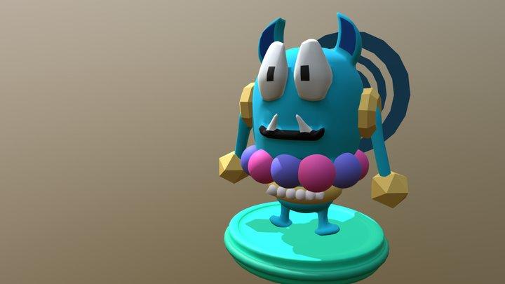 Monster Egg 3D Model