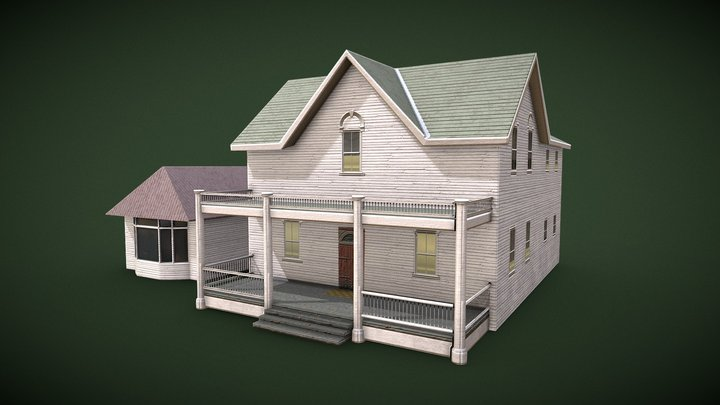 Farmhouse _low-poly 3D Model