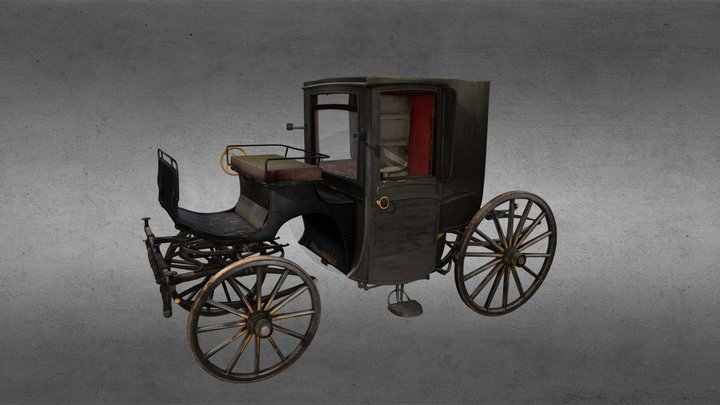 Horse drawn carriage 3D Model