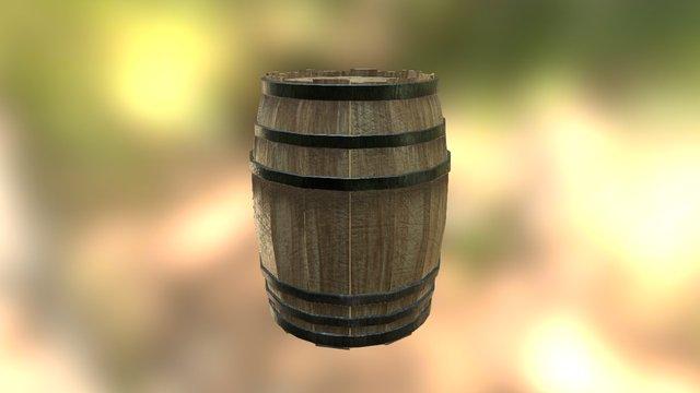 Barrel - Substance Painter to Sketchfab 3D Model