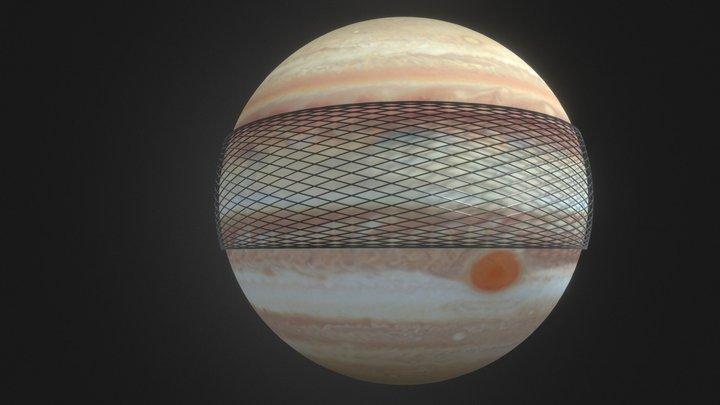 Orbital rings around Jupiter 3D Model