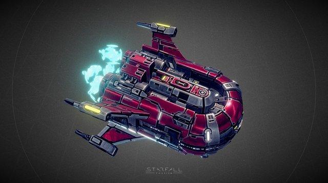 Starfall Tactics — Helskor Vanguard cruiser 3D Model