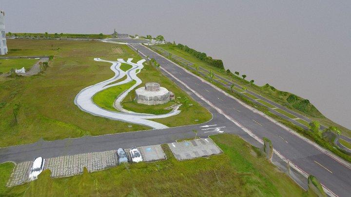宜蘭縣日據時代神風特攻隊機場塔台 3D Model