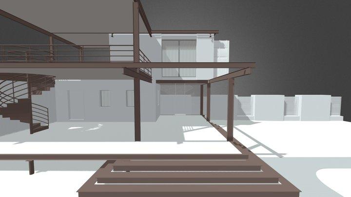 Маленький временный домик из контейнеров 3D Model